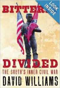 The book jacket for Bitterly Divided by David Williams.
